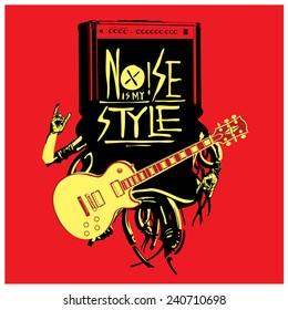 vector guitar music poster