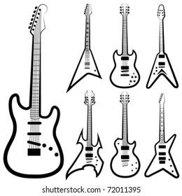 vector guitar set