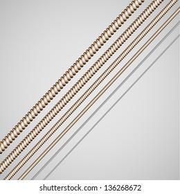 Vector guitar strings