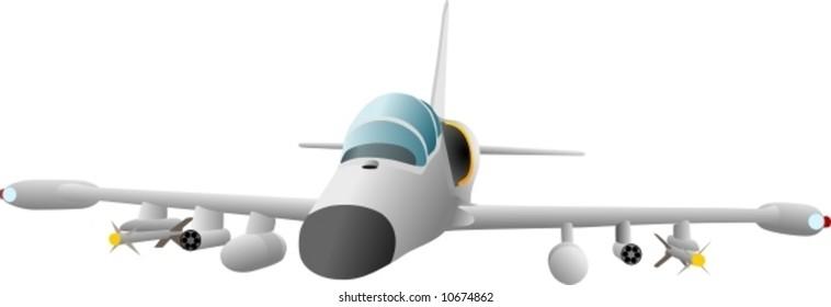 vector - gun plane Czech army L39 albatross