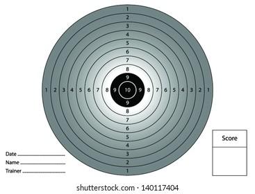 (Vector) Gun shooting target for printing