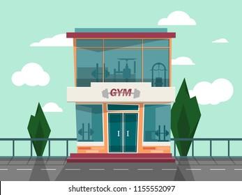 Vector Gym store facade front view.