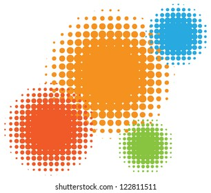 Vector half tone circles