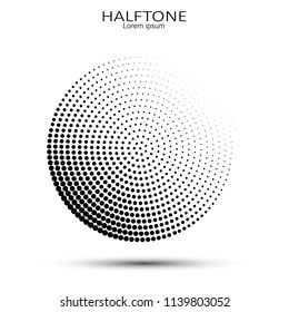 Vector halftone circles. Abstract halftone. Abstract dots. Vector illustration.