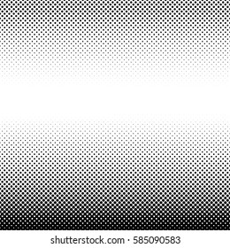 Vector halftone geometric background. Grunge abstract half tone dotted texture. Monochrome graphic for print, dtp or presentation. Vintage style design