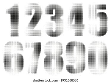 Vector halftone numbers set design.