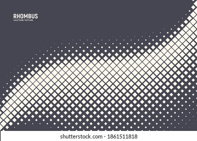 Vector Halftone Rhombus Abstract Geometric Technology Oscillation Wave Abstract Background