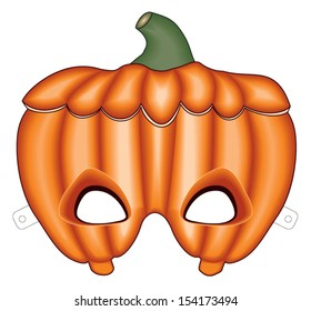 Vector Hallowee Pumpkin mask