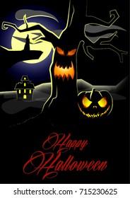 vector halloween illustration for fliers