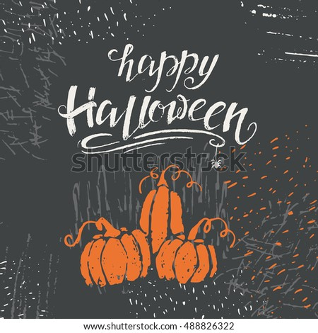 Vector halloween lettering greeting card happy stock vector royalty vector halloween lettering greeting card happy halloween message design background with vector texture perfect m4hsunfo