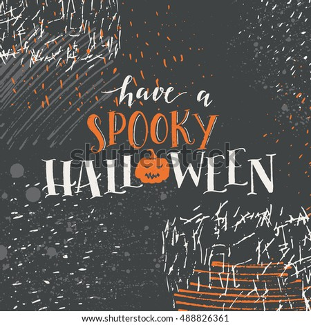 Vector halloween lettering greeting card have stock vector royalty vector halloween lettering greeting card have a spooky halloween message design background with vector texture m4hsunfo