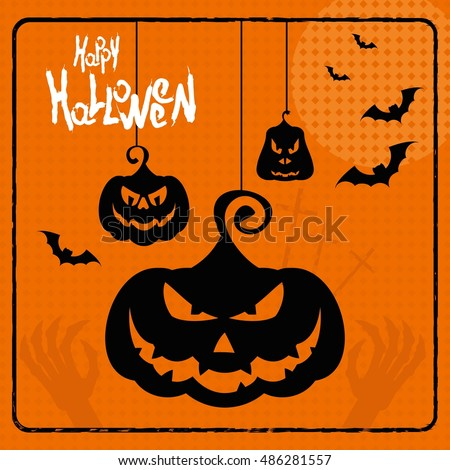 vector halloween party poster template halloween stock vector