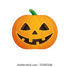 A vector halloween pumpkin