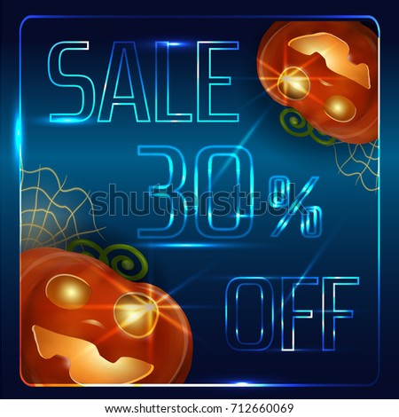 Vector Halloween Template Flyer Signboard Billboard Stock Vector