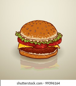 vector hamburger