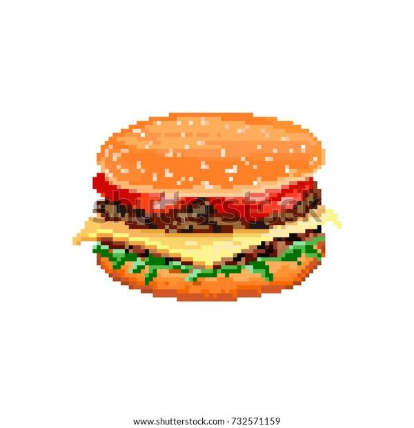 Image Vectorielle De Stock De Vector Hamburger On White