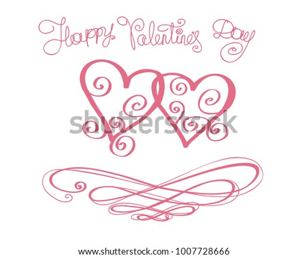 Vector Hand Cursive Writing Letters Written Stock Vector Royalty