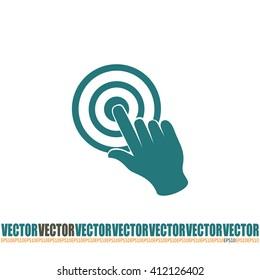Vector hand cursor vector icon