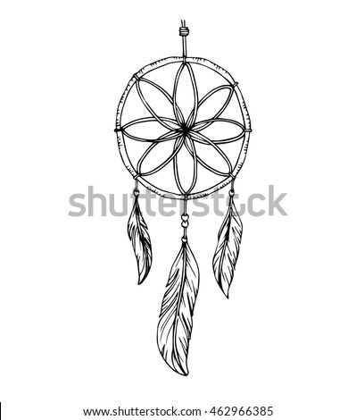 Vector Hand Draw Dream Catcher Stock Vector Royalty Free 40 Best Pictures Of Dream Catchers To Draw