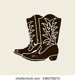 5889e63f899 Similar Images, Stock Photos & Vectors of Vector Illustration Cowboy ...