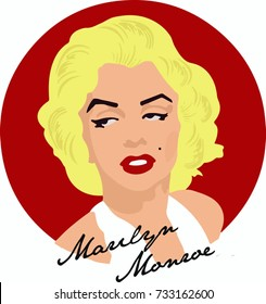 vector hand draw marilyn monroe illustrator background wallpaper