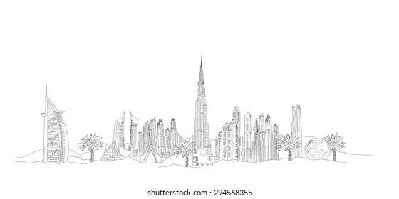 Vektorgrafik-Panoramadubai