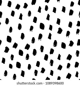 Vector hand drawn abstract ink seamless background. Modern handmade texture for textile, wallpaper, surface pattern.