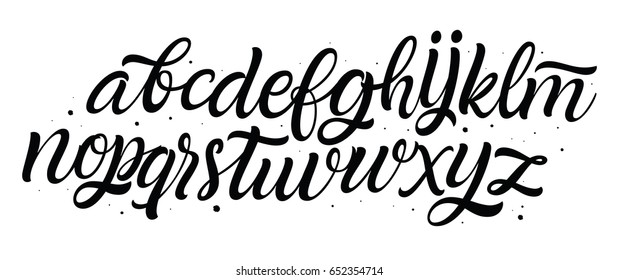 Vector hand drawn alphabet. Lettering and custom typography for your designs: logo, for posters, invitations, cards, etc. Typography vector.