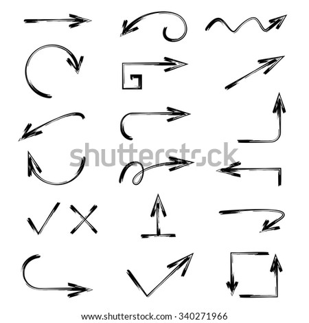 vector hand drawn arrows