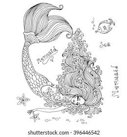 Mermaid Drawing Images Stock Photos Vectors Shutterstock