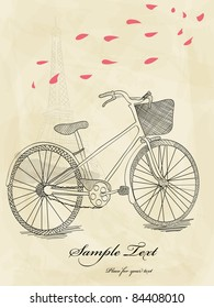 Vector hand drawn bicycle