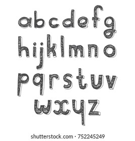 Vector Drawing Uppercase Letter a to Z Design Images, Stock Photos