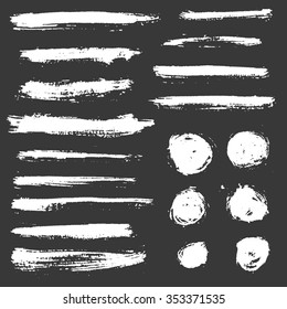 Vector hand drawn grunge brush strokes, circle brush strokes.