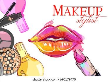 Ilustraciones, imágenes y vectores de stock sobre Makeup