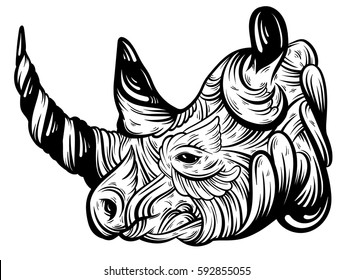 rhino tattoo images stock photos vectors shutterstock