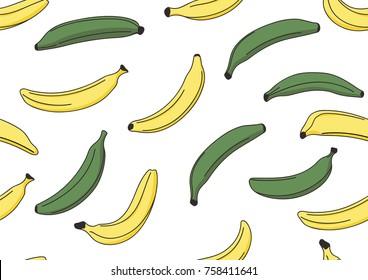 vector hand drawn seamless pattern design illustration plantain