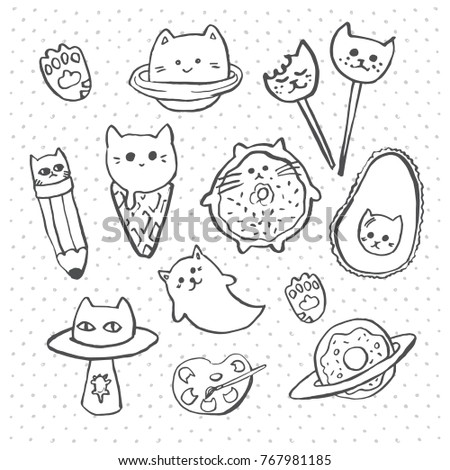 Vector Hand Drawn Sketch Cute Cartoon Stock Vector Royalty Free