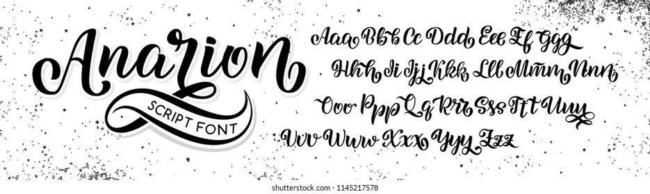 Vector hand drawn typeface. Brush painted letters. Handwritten script alphabet isolated on white background. Handmade alphabet for your designs logo, posters, invitations, cards, etc. Vector