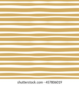Vector hand drawn yellow lines background. Abstract seamless lined pattern.