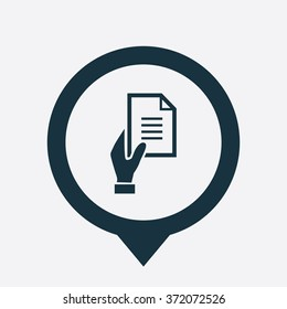 Vector hand holding document Icon