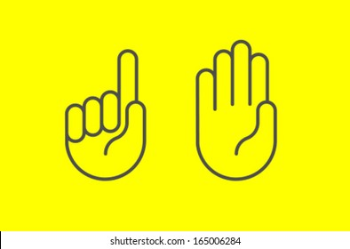 Vector Hand Icon Symbol Set