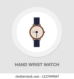 vector hand wrist watch icon, wristwatch illustration isolated - clock icon