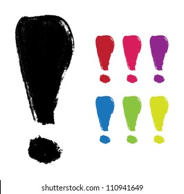 Vector hand-painted exclamation mark