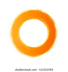 Vector hand-painted yellow circle