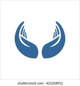 Vector Hands Circle Logo Design.