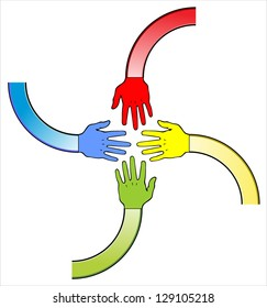Vector of handshake
