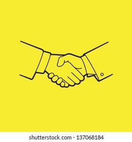 Vector Handshake Icon Symbol
