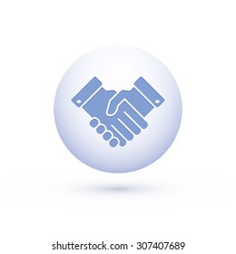 Vector handshake symbol. Business and finance icon