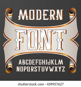 Vector handy crafted modern label font