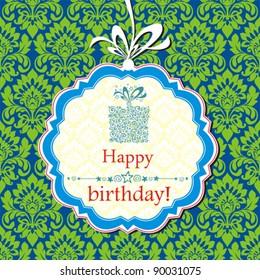 Vector happy birthday card.
